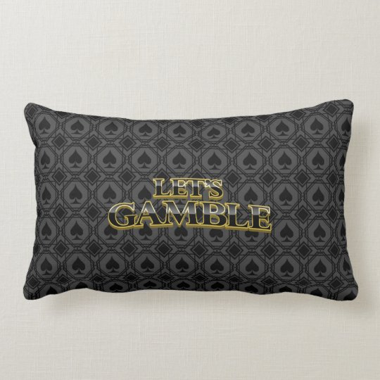Let's Gamble dark Spades Pillow