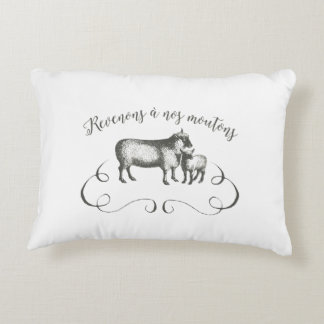 Let's Get Back to Our Sheep - Funny Vintage Farm Decorative Pillow