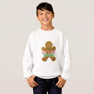 Let's Get Baked Gingerbread Man ugly christmas Sweatshirt