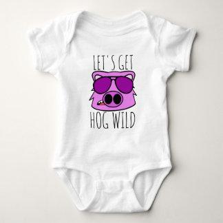 Let's Get Hog Wild Baby Bodysuit