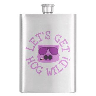 Let's Get Hog Wild Hip Flask