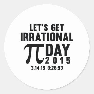 Let's Get Irrational Round Sticker