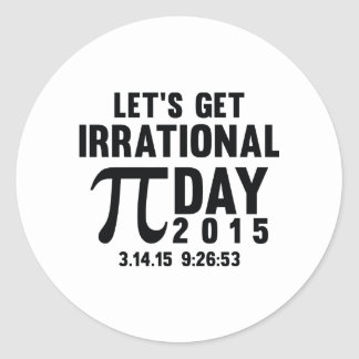 Let's Get Irrational Round Stickers