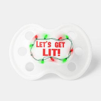 lets get lit pacifier