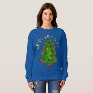 Let's Get Lit Ugly Christmas Sweater Holiday Tree