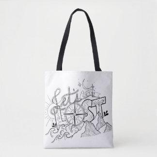 Let's Get Lost - Adventure Typography   Tote Bag