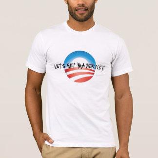 LETS GET MAVERICKY! Obama vs Palin T-Shirt