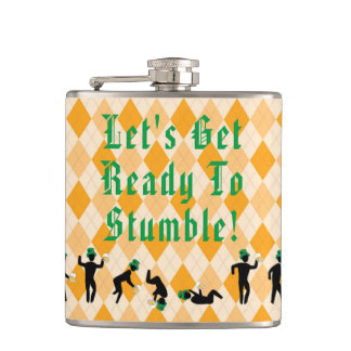 Let's get ready to stumble! St. Patrick's Day Hip Flask