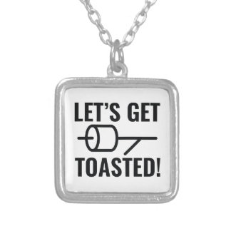 Let's Get Toasted Silver Plated Necklace