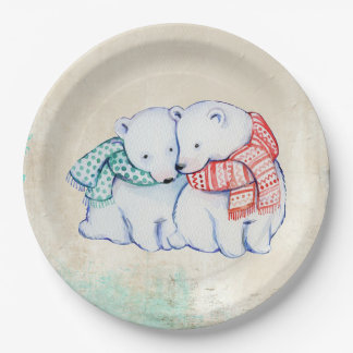 Let's Get Together Christmas Party Paper Plates 9 Inch Paper Plate