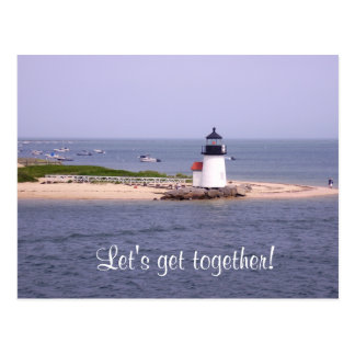 Let's Get Together Nantucket Lighthouse Post Card