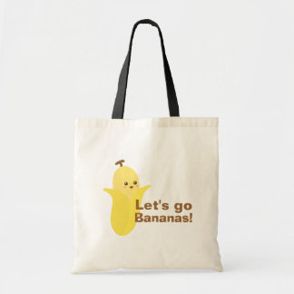 Let's go Bananas with this cute and happy banana Budget Tote Bag