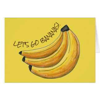 Let's Go Bananas Yellow Banana Fruit Bunch Foodie Card