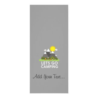 """Lets go Camping 4"""" X 9.25"""" Invitation Card"""