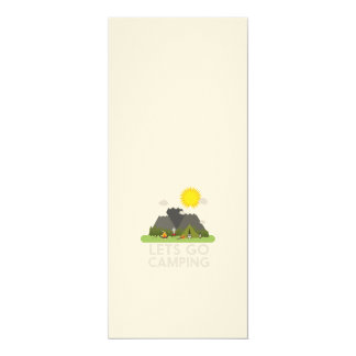 "Lets go Camping 4"" X 9.25"" Invitation Card"