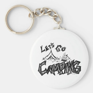 Let's Go Camping Outdoor Design Keychain
