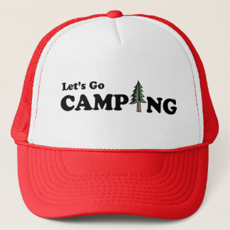 Let's Go Camping Pine Tree Cap
