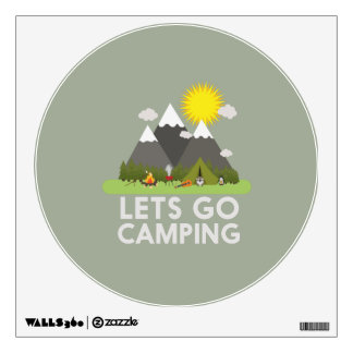 Lets go Camping Wall Decal
