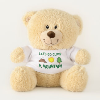 Let's Go Climb a Mountain Pine Tree Sun Outdoor Teddy Bear