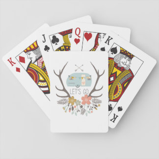 Let's Go - Cute Vintage Trailer Playing Cards