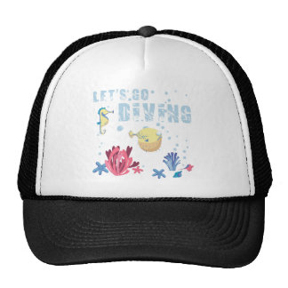 let's go diving holidays RK the sea Trucker Hat