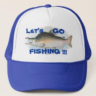 Let's Go Fishing Humpback Salmon Fishing Hat
