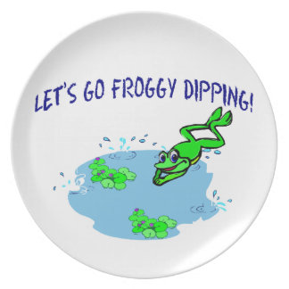 Let's Go Froggy Dipping Party Plate