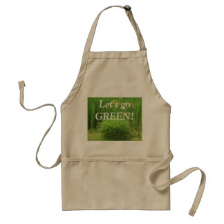 Let's go GREEN! Apron