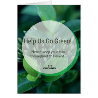 Let's Go Green! Greeting Card