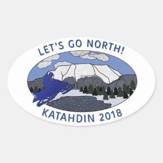 LET'S GO NORTH sticker