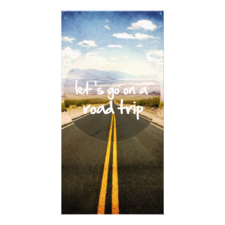 Let's go on a road trip photo card
