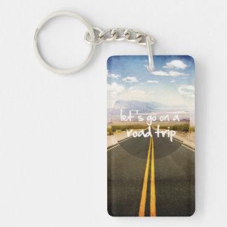 Let's go on a road trip Single-Sided rectangular acrylic keychain