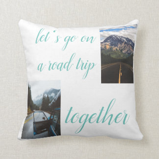 lets go on a roadtrip 100% cotton pillow