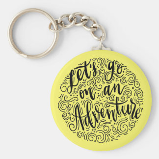 Let's go on an Adventure Basic Round Button Keychain