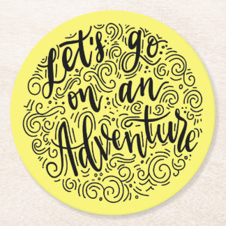 Let's go on an Adventure Round Paper Coaster
