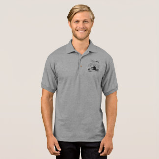 Let's Go Outside, Men's Polo, Gray Polo Shirt