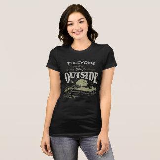 Let's Go Outside, Women's Bella Jersey T, Black T-Shirt