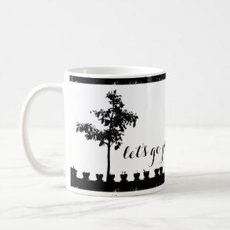 Let's go play outside trees and pots mug
