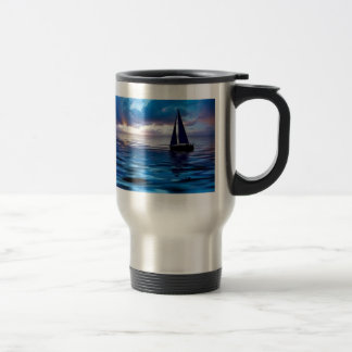 Lets Go Sailing 15 Oz Stainless Steel Travel Mug