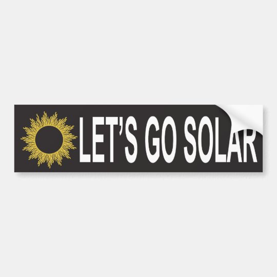 Let's Go Solar Energy Bumper Sticker