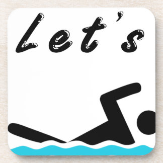 Let's Go Swimming Beverage Coasters