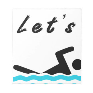 Let's Go Swimming Notepad