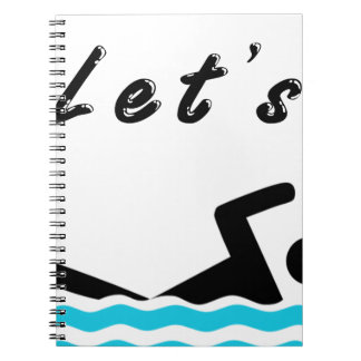 Let's Go Swimming Spiral Notebooks