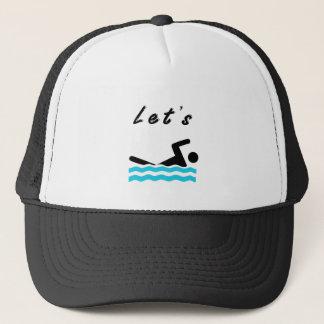 Let's Go Swimming Trucker Hat