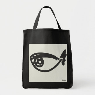 Let's go to the beach grocery tote bag