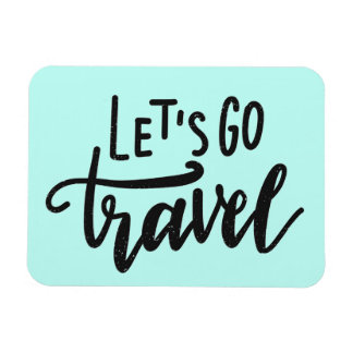 Let's Go Travel Rectangular Photo Magnet