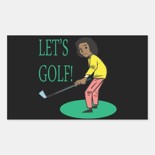 Lets Golf Sticker