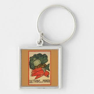 Let's Grow a Vegetable Garden Keychain