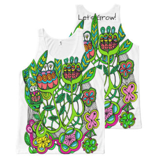 Let's Grow by Cindy Ginter All-Over-Print Tank Top