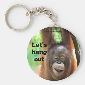 Let's Hang Out Animal Keychain